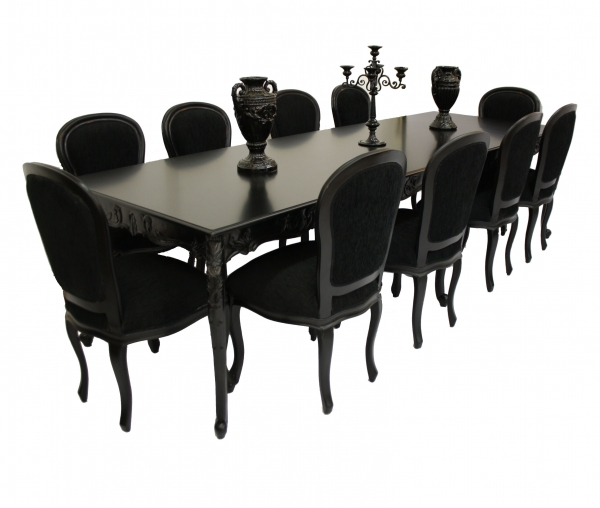 Seater Glass Dining Table And Chairs Modern Kitchen Furniture - Glass dining table for 10