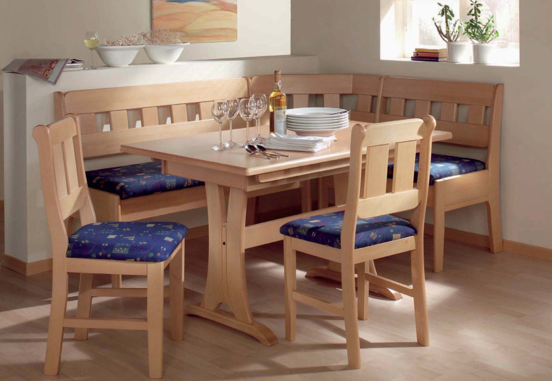Breakfast nook tables save your kitchen from the numerous ...