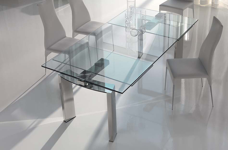 Expandable Glass Dining Table Sets