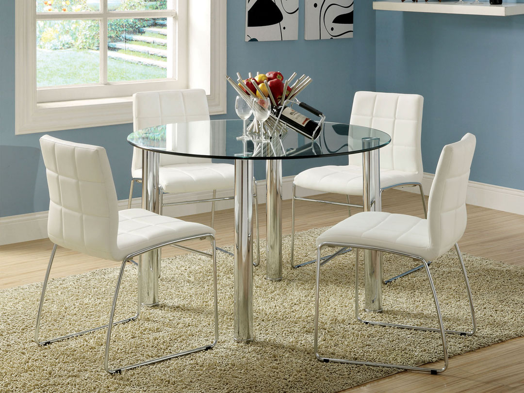 Picture of: Glass Dining Sets For Those Who Want Their Places Look Modern Modern Kitchen Furniture Photos Ideas Reviews