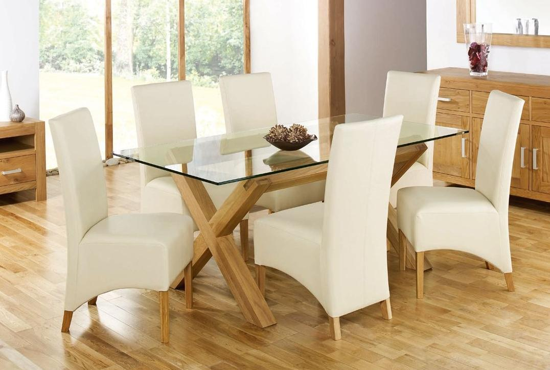 Photo Gallery Of The Glass Dining Sets For Those Who Want Their Places Look Modern