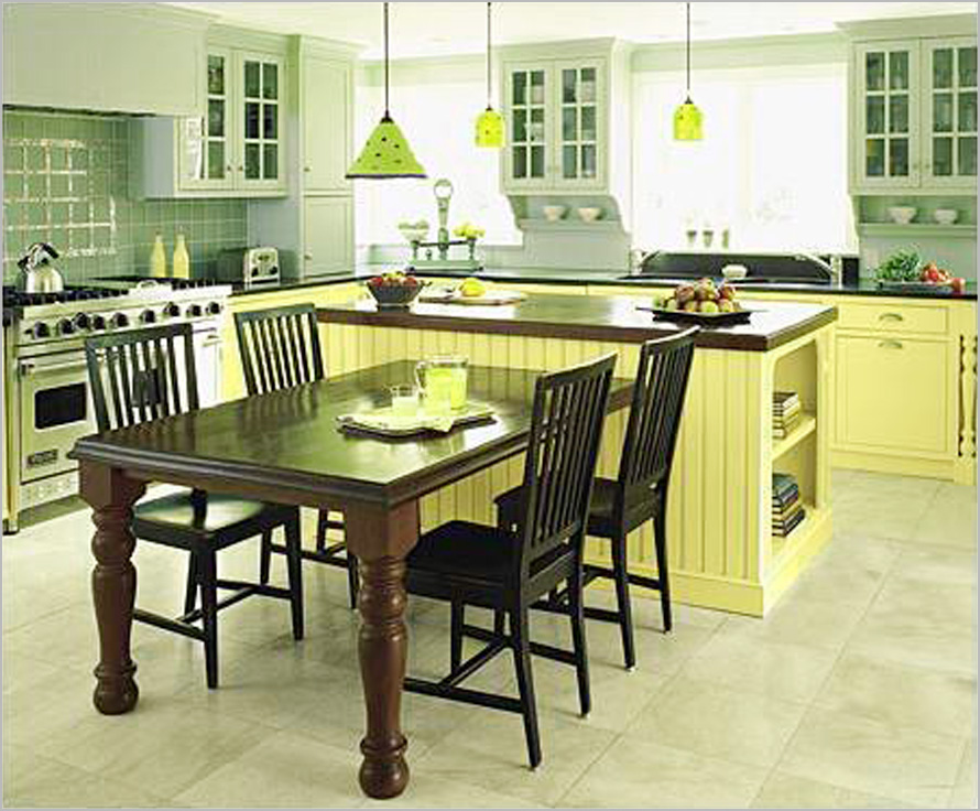 Island For The Kitchen With Tables