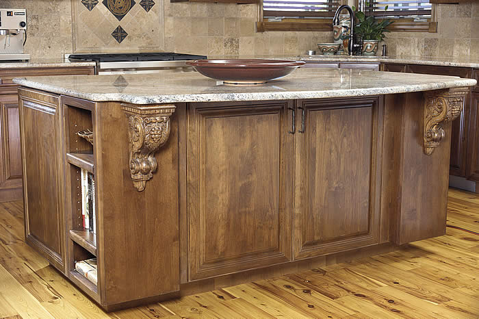 Kitchen Cart With Cabinets