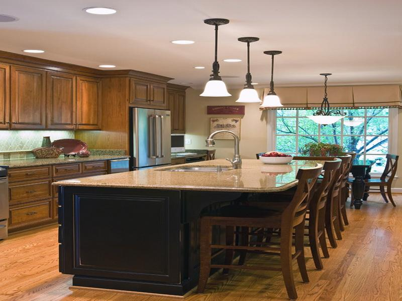kitchen island with seating and wine rack : Modern Kitchen ...