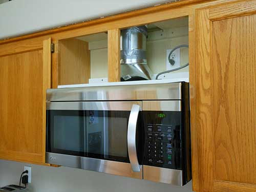 Microwave Exhaust Size