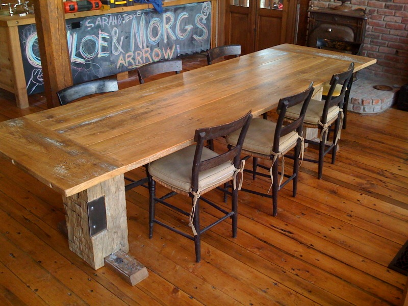 Narrow Dining Table Reclaimed Wood Modern Kitchen Furniture Photos Ideas Reviews