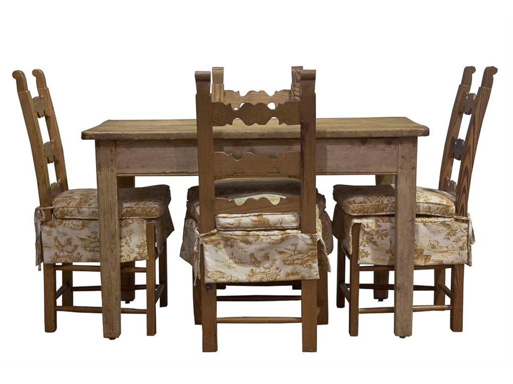Pine Dining Room Table Set