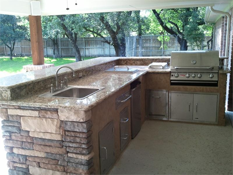 Photo Gallery Of The Outdoor Kitchen Island Kits For People Who Love Meals  Cooked Outside