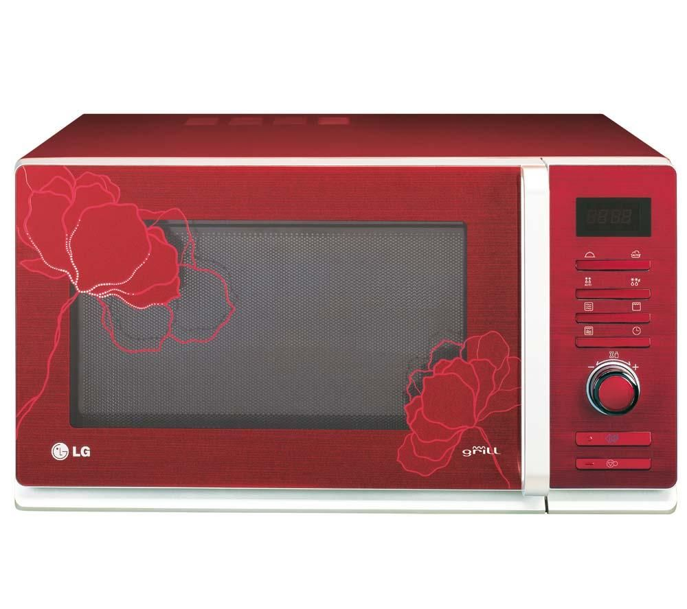 Red Retro Microwave Oven Modern Kitchen Furniture Photos Ideas Reviews