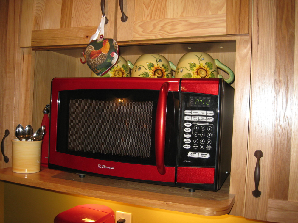 20 Photos Of The Make A Stylish Color Accent With Red Microwaves