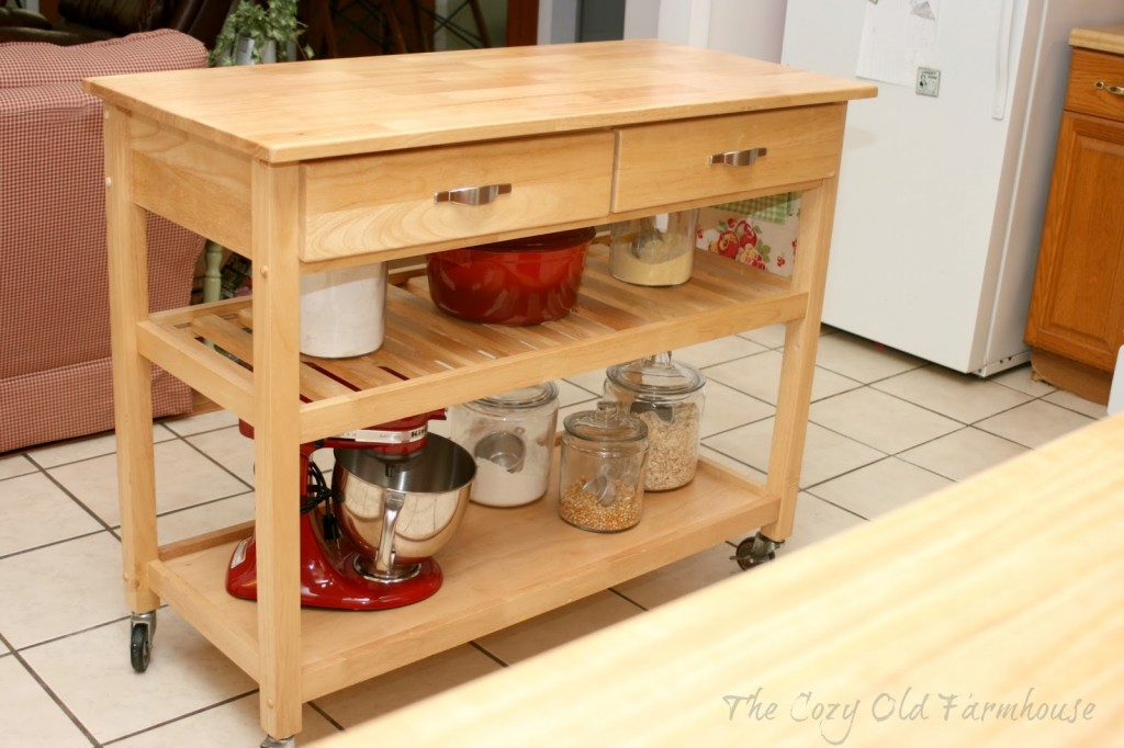 Rolling Kitchen Island Cart Wine Cabinet