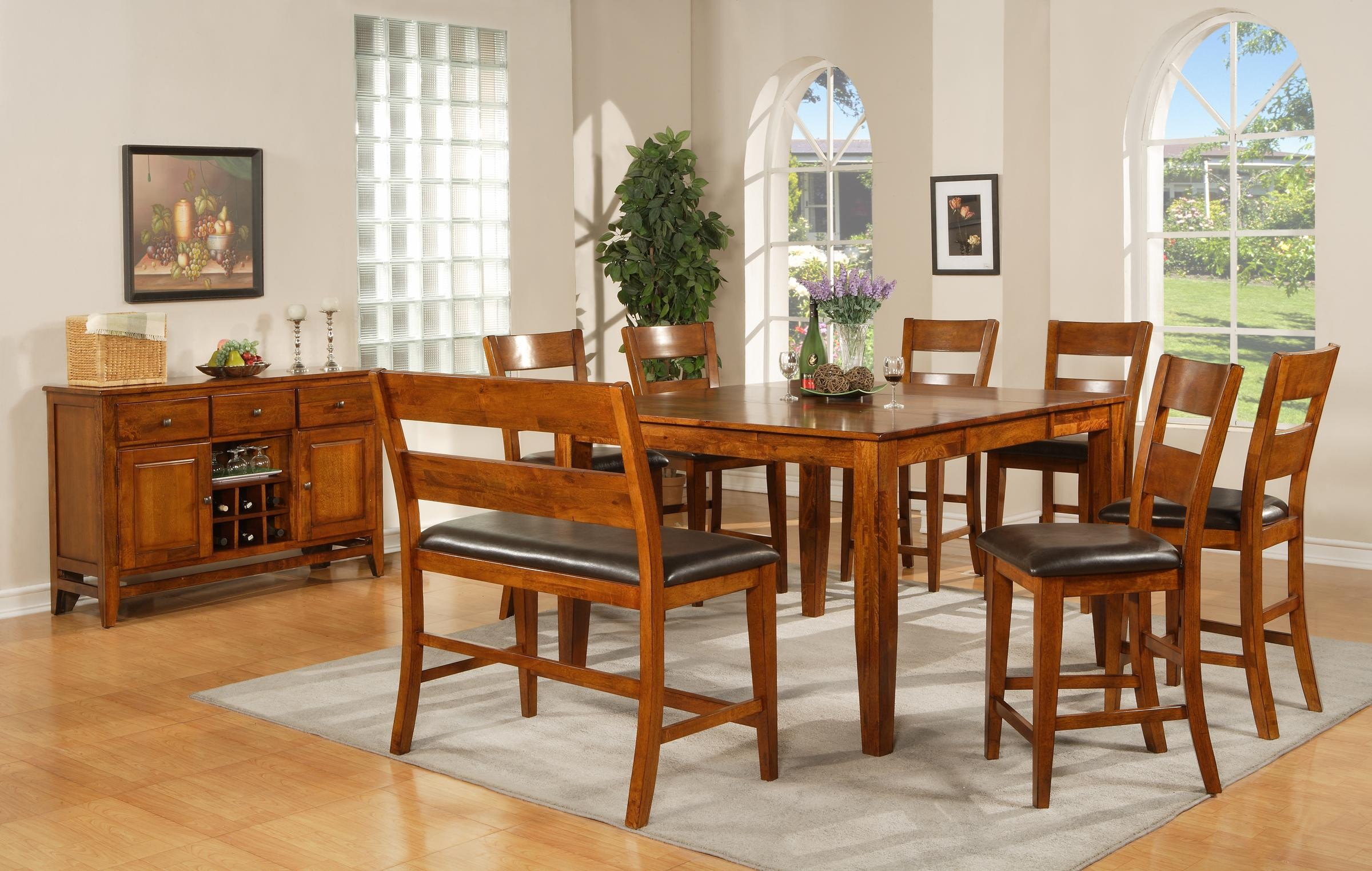 Square kitchen table with bench - Photo Gallery Of The Square Kitchen Tables For Amazing Contemporary Apartments
