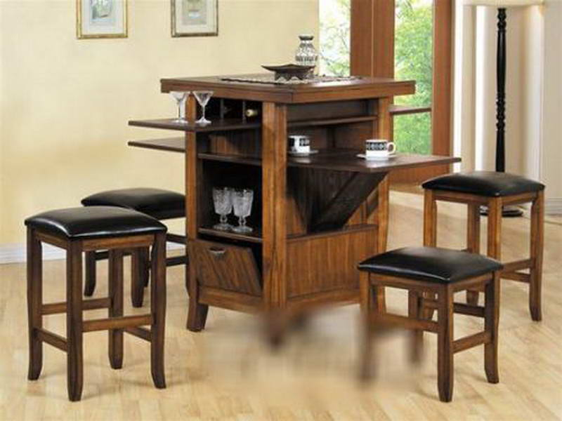 square kitchen table and  chairs  Modern Kitchen Furniture