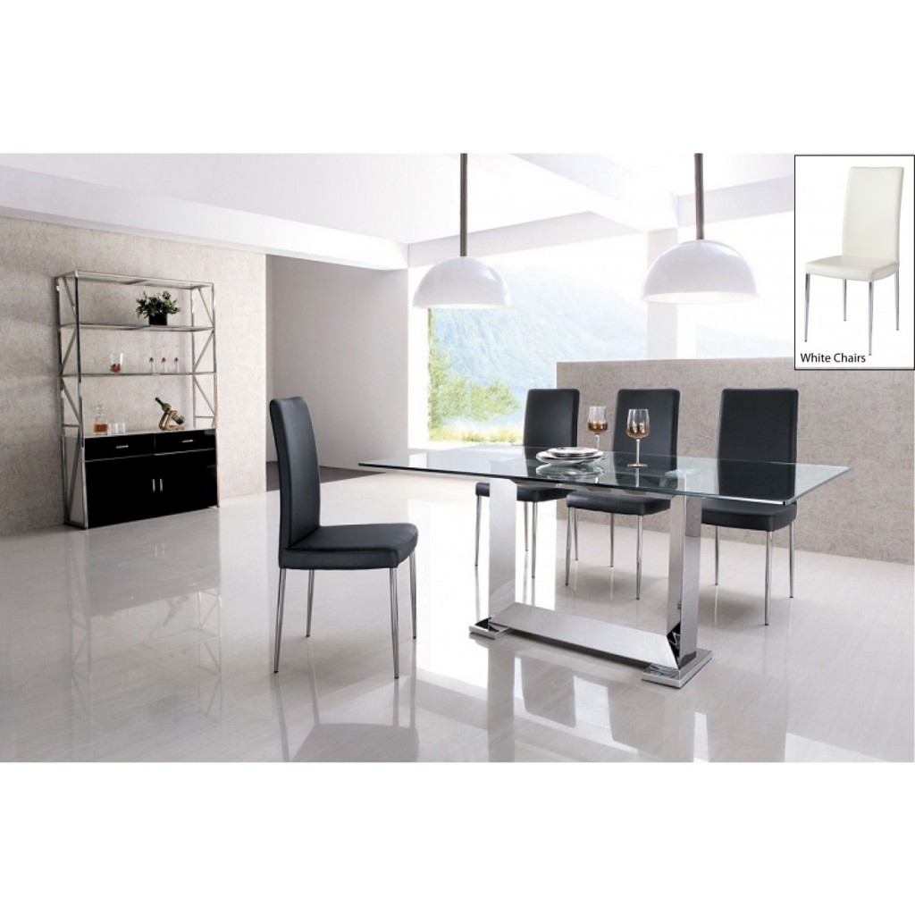 stainless steel dining table set  sc 1 st  autohaus-fleischer.com & stainless steel dining table set : Modern Kitchen Furniture Photos ...