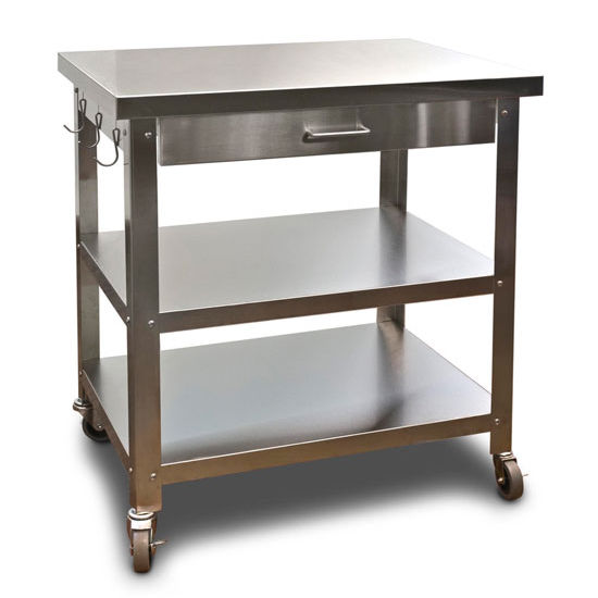 Photo Gallery Of The Stainless Steel Carts On Wheels For Kitchens 21st Century