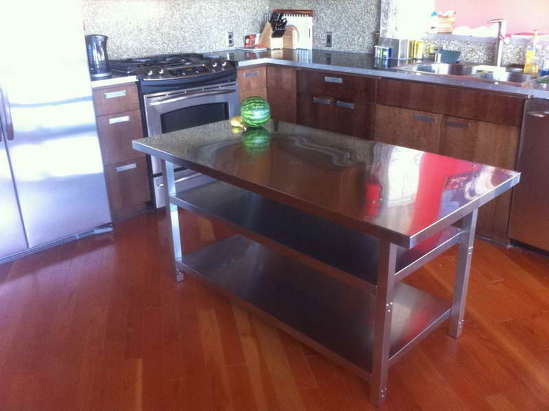 Ordinaire Used Stainless Steel Kitchen Work Table : Modern Kitchen Furniture Photos,  Ideas U0026 Reviews