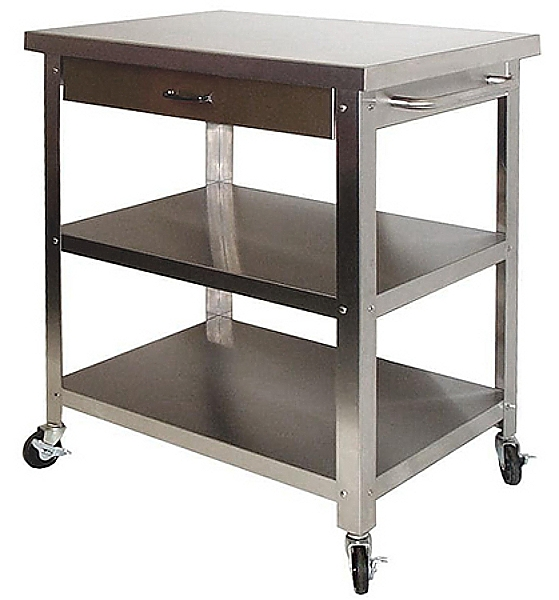 Stainless Steel Utility Carts With Wheels Modern Kitchen Furniture