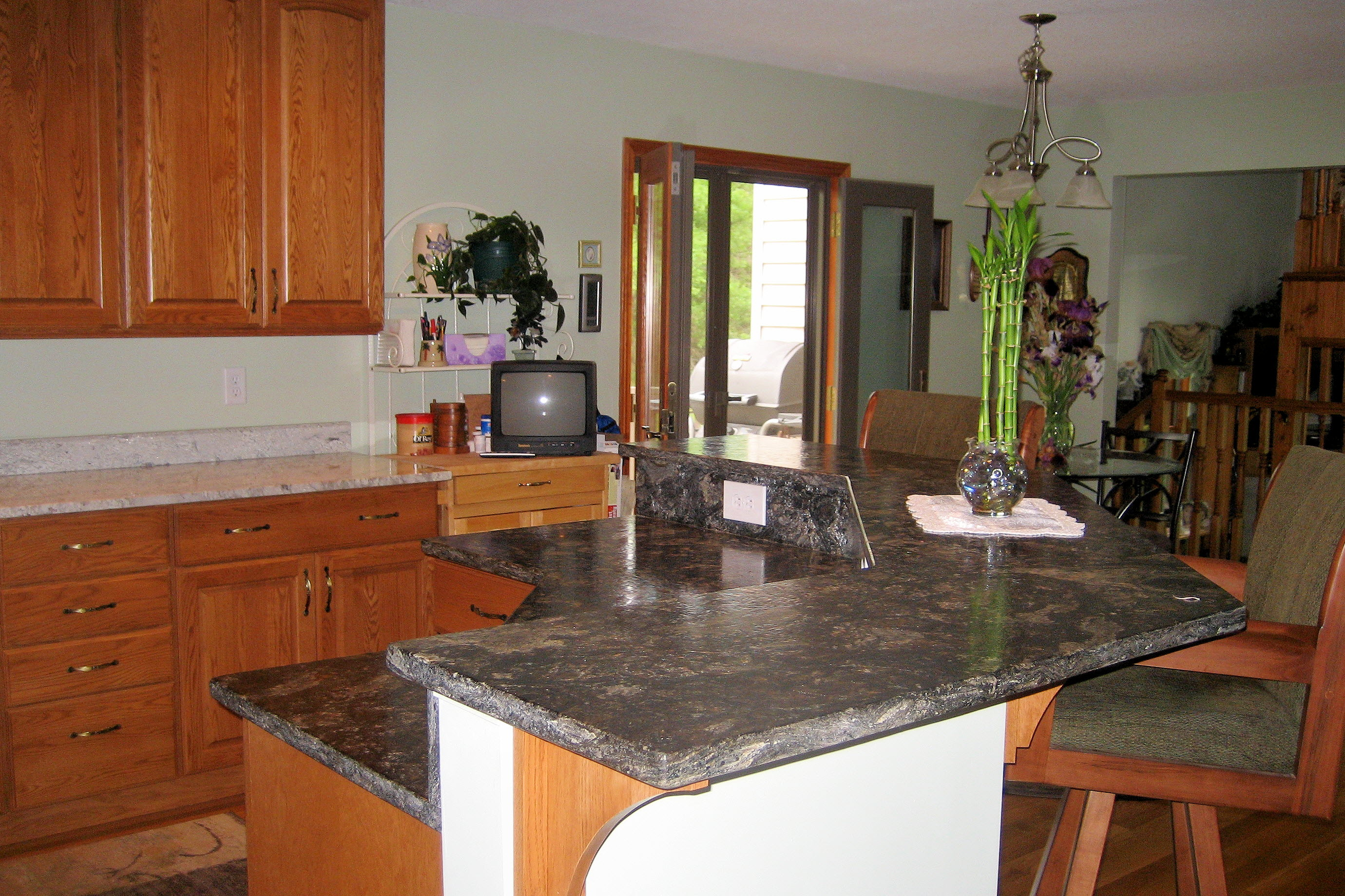 Two tier kitchen island dimensions - Photo Gallery Of The Two Tier Kitchen Islands For People Who Are Longing For Saving The Precious Room Of Their Cooking Areas