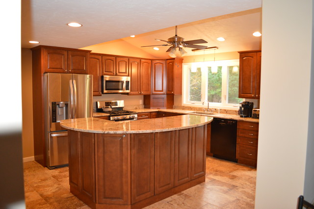 Photo Gallery Of The Two Tier Kitchen Islands For People Who Are Longing  For Saving The Precious Room Of Their Cooking Areas Part 83