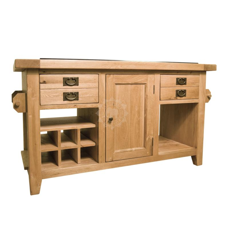 vermont reclaimed oak large kitchen island with granite