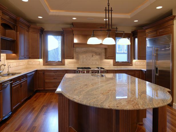 White Kitchen Islands With Granite Top