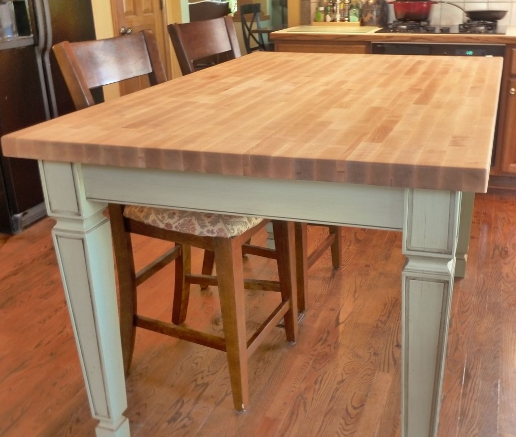 Picture of: White Kitchen Table With Butcher Block Top Modern Kitchen Furniture Photos Ideas Reviews
