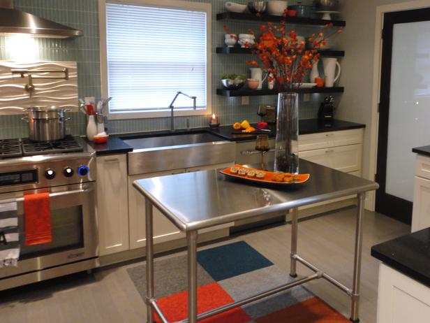 Metal kitchen island tables' costs