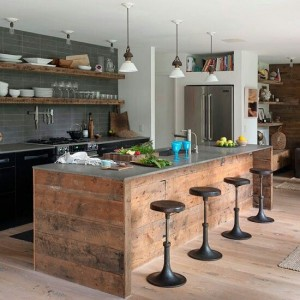 Modern kitchen islands. You're using it for dining, work prep or cooking.