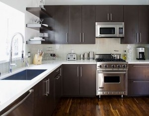 Contemporary small kitchen designs Pictures, Remodel, Decor and Ideas Great colours, huge sink