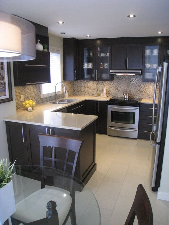 Contemporary small kitchen designs photo