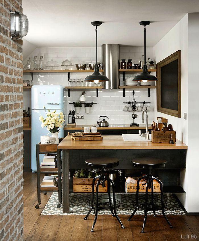 France style Contemporary small kitchen designs 2015
