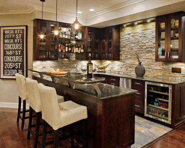 Stunning Ideas For Designing a Contemporary Basement - I just like this bar.
