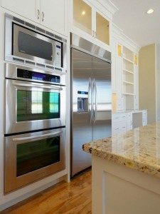 The newest microwave ovens are under-counter models that free up counter space and make it possible to have a real vent hood over the stove