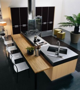 Small Kitchen Island - another inspiration for small kitchen in need of more prep space and storage.