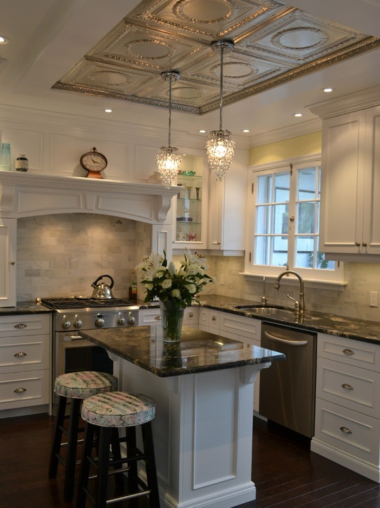Small-Space Island Kitchen Interior Design photo