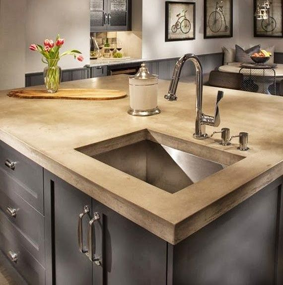 Beau How Choose Kitchen Beautiful Countertop With Island Cheap, But Still Very  Good