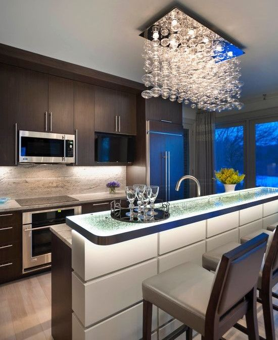 Home Decor Contemporary Kitchen with bar : Modern Kitchen Furniture ...
