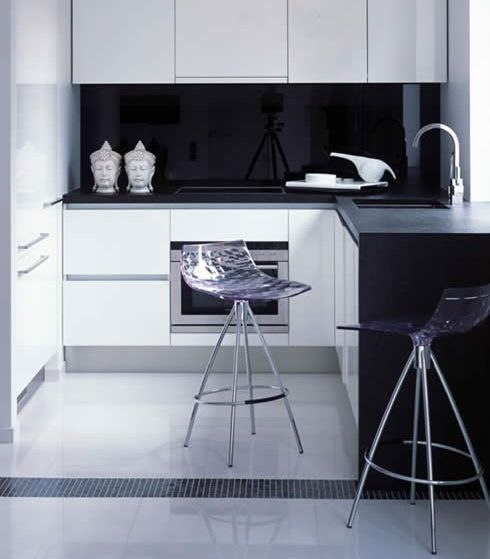 Modern Small Corner Kitchen Design Ideas With Bar