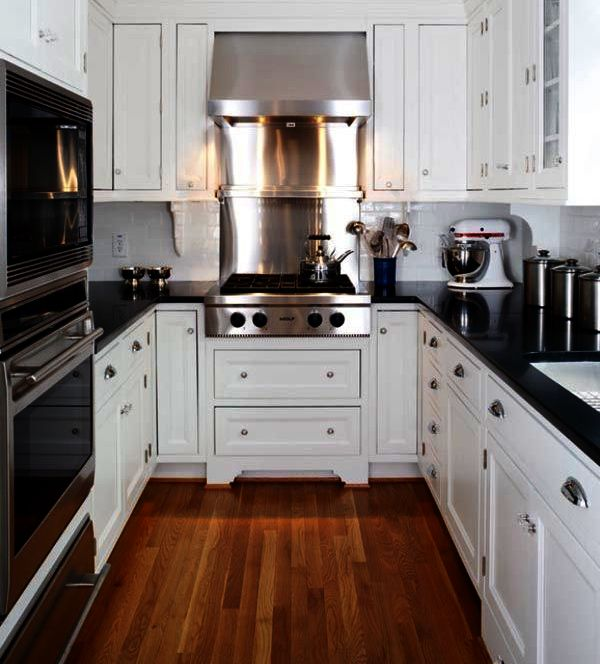 Modern Small Corner Kitchen Design. Space-saving ideas. Extremely creative  small kitchen design ideas