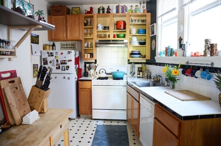 Photo Gallery Of The Secrets Of Increasing The Visual Space In A Small  Kitchen. Space Saving Ideas For Small Kitchen.